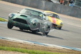 © Octane Photographic Ltd. 2012 Donington Historic Festival. Pre-63 GT, qualifying. Aston Martin DB4 - Robert Rawe. Digital Ref : 0322cb1d9355