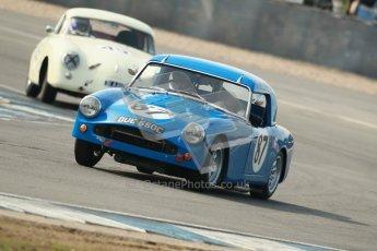 © Octane Photographic Ltd. 2012 Donington Historic Festival. Pre-63 GT, qualifying. Turner Mk.3 - Ken Prichard Jones, Nick Crewdson. Digital Ref : 0322cb1d9369