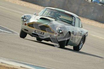 © Octane Photographic Ltd. 2012 Donington Historic Festival. Pre-63 GT, qualifying. Aston Martin DB4 - Nick Naismith. Digital Ref : 0322cb1d9461