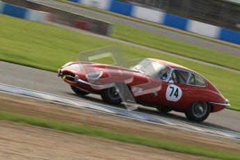 © Octane Photographic Ltd. 2012 Donington Historic Festival. Pre-63 GT, qualifying. Jaguar E-type - Chris Phillips. Digital Ref : 0322cb7d0366