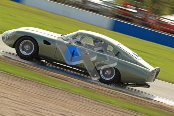 © Octane Photographic Ltd. 2012 Donington Historic Festival. Pre-63 GT, qualifying. Aston Marton DP212 - Wolfgang Friedrichs, David Clark. Digital Ref : 0322cb7d0398