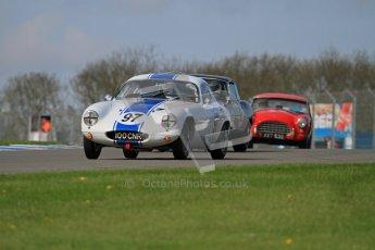 © Octane Photographic Ltd. 2012 Donington Historic Festival. Pre-63 GT, qualifying. Lotus Elite - Nick Atkins, Malcolm Ricketts. Digital Ref : 0322lw7d0193