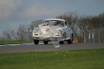 © Octane Photographic Ltd. 2012 Donington Historic Festival. Pre-63 GT, qualifying. Porsche 356 Carrera 2 GT - Carlo Vogele. Digital Ref : 0322lw7d0224