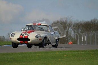 © Octane Photographic Ltd. 2012 Donington Historic Festival. Pre-63 GT, qualifying. Jaguar E-type - McCaig, Wood. Digital Ref : 0322lw7d0229