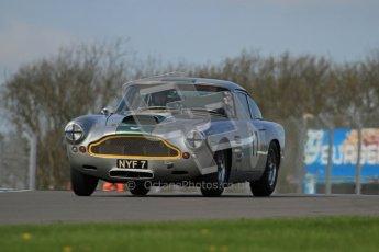 © Octane Photographic Ltd. 2012 Donington Historic Festival. Pre-63 GT, qualifying. Aston Martin DB4 - Nick Naismith. Digital Ref : 0322lw7d0238