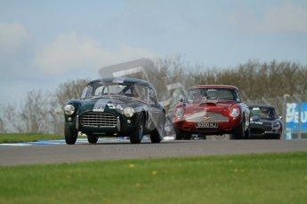 © Octane Photographic Ltd. 2012 Donington Historic Festival. Pre-63 GT, qualifying. AC Ace - Mark Knopfler, Alain de Cadenet. Digital Ref : 0322lw7d0265