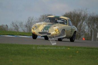 © Octane Photographic Ltd. 2012 Donington Historic Festival. Pre-63 GT, qualifying. Lotus Elite - Pal Garside, Philip Weston. Digital Ref : 0322lw7d0305