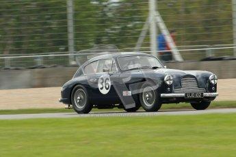 © Octane Photographic Ltd. 2012 Donington Historic Festival. RAC Woodcote Trophy for pre-56 sportscars, qualifying. Aston Martin DB2/4 Mk.I - Nigel Batchelor. Digital Ref : 0316cb1d8080