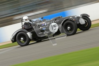 © Octane Photographic Ltd. 2012 Donington Historic Festival. RAC Woodcote Trophy for pre-56 sportscars, qualifying. Allard J2 - Patrick Watts. Digital Ref : 0316cb7d9963
