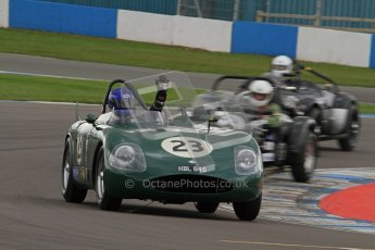 © Octane Photographic Ltd. 2012 Donington Historic Festival. RAC Woodcote Trophy for pre-56 sportscars, qualifying. RGS Atlanta - Barry Wood/Barry Cannell. Digital Ref : 0316lw7d8491