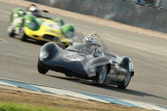 © Octane Photographic Ltd. 2012 Donington Historic Festival. Stirling Moss Trophy for pre-61 sportscars, qualifying. Lola Mk.1 - Jurg Tobler. Digital Ref : 0321cb1d9035