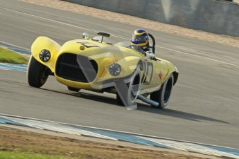 © Octane Photographic Ltd. 2012 Donington Historic Festival. Stirling Moss Trophy for pre-61 sportscars, qualifying. Old Yeller Mk.II - Ernest Nagamatsu. Digital Ref : 0321cb1d9053