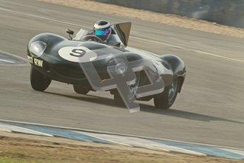© Octane Photographic Ltd. 2012 Donington Historic Festival. Stirling Moss Trophy for pre-61 sportscars, qualifying. Jaguar D-type, Benjamin Eastick. Digital Ref : 0321cb1d9102
