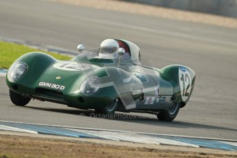 © Octane Photographic Ltd. 2012 Donington Historic Festival. Stirling Moss Trophy for pre-61 sportscars, qualifying. Lotus XI - Jean Jacques-Gravier. Digital Ref : 0321cb1d9142