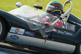 © Octane Photographic Ltd. 2012 Donington Historic Festival. Stirling Moss Trophy for pre-61 sportscars, qualifying. Lola Mk.1 - Ronny Tobler. Digital Ref : 0321cb1d9186
