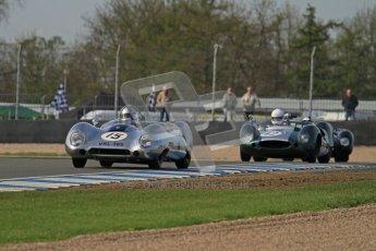 © Octane Photographic Ltd. 2012 Donington Historic Festival. Stirling Moss Trophy for pre-61 sportscars, qualifying. Lotus XV - Ewan McIntyre. Digital Ref : 0321lw7d0015