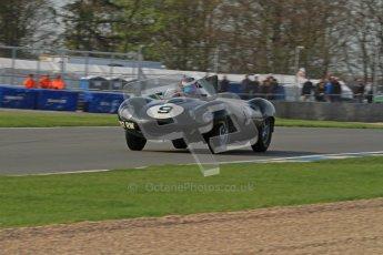 © Octane Photographic Ltd. 2012 Donington Historic Festival. Stirling Moss Trophy for pre-61 sportscars, qualifying. Jaguar D-type - Benjamin Eastick. Digital Ref : 0321lw7d0075
