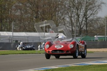 © Octane Photographic Ltd. 2012 Donington Historic Festival. Stirling Moss Trophy for pre-61 sportscars, qualifying. Maserati 250S - Stephen Bond/Keith Fell. Digital Ref : 0321lw7d9748