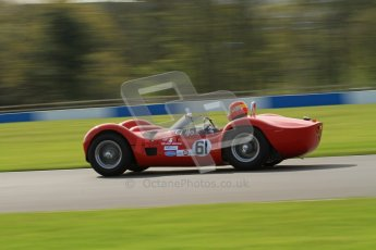 © Octane Photographic Ltd. 2012 Donington Historic Festival. Stirling Moss Trophy for pre-61 sportscars, qualifying. Maserati T61 Birdcage - Alan Minshaw. Digital Ref : 0321lw7d9801