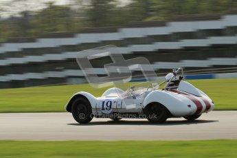© Octane Photographic Ltd. 2012 Donington Historic Festival. Stirling Moss Trophy for pre-61 sportscars, qualifying. Elva Mk.V. Ralf Emmerling/Phil Hooper. Digital Ref : 0321lw7d9809