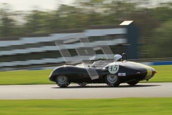 © Octane Photographic Ltd. 2012 Donington Historic Festival. Stirling Moss Trophy for pre-61 sportscars, qualifying. Lister Jaguar Costin - Darren McWhirter. Digital Ref : 0321lw7d9825