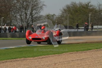 © Octane Photographic Ltd. 2012 Donington Historic Festival. Stirling Moss Trophy for pre-61 sportscars, qualifying. Maserati T61 Birdcage - Alan Minshaw. Digital Ref : 0321lw7d9845