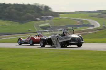 © Octane Photographic Ltd. 2012 Donington Historic Festival. Stirling Moss Trophy for pre-61 sportscars, qualifying. Kurtis 500S - Adam Singer. Digital Ref : 0321lw7d9955