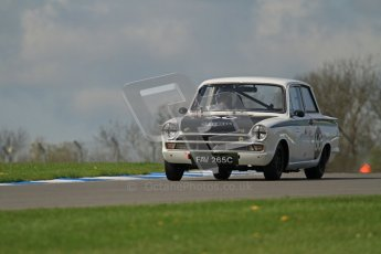 © Octane Photographic Ltd. 2012 Donington Historic Festival. U2TC. Ford Lotus Cortina - Graham Wilson, Martin Hood. Digital Ref : 0323lw7d0513