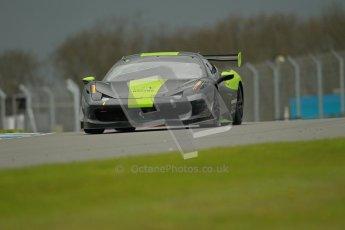© Octane Photographic Ltd. Donington Park - General Test - 19th April 2012. Derek Johnston, Graypaul Racing, Ferrari 458 Challenge. Digital ref : 0297lw1d9691