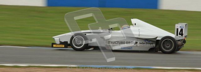 © Octane Photographic Ltd. Donington Park - General Test - 19th April 2012. Matt Mason, Mygale FB02, MGR, BARC Intersteps championship. Digital ref : 0297lw7d5527