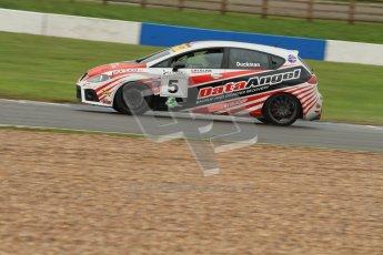 © Octane Photographic Ltd. Donington Park - General Test - 19th April 2012. Gary Duckman, Seat Leon,  BARC Dunlop Production Touring Car Trophy. Digital ref : 0297lw7d5591