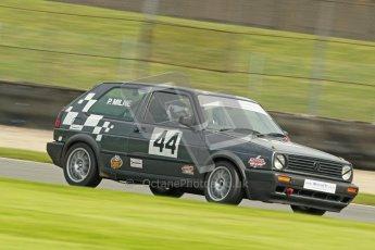 © Octane Photographic Ltd. Donington Park un-silenced general test day, 26th April 2012. Mk.2 Golf GTi Championship. P.Milne. Digital Ref : 0301cb1d3018