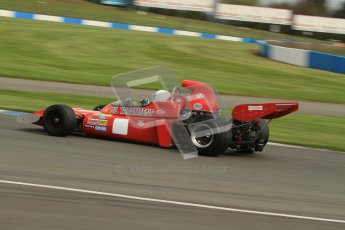 © Octane Photographic Ltd. Donington Park un-silenced general test day, 26th April 2012. March 711, Historic F1. Digital Ref : 0301lw7d0234