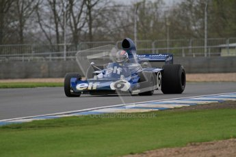 © Octane Photographic Ltd. Donington Park un-silenced general test day, 26th April 2012. Tyrrell 006 - Rob Hall, Historic F1. Digital Ref : 0301lw7d8639