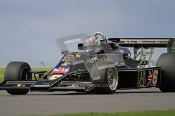 © Octane Photographic Ltd. Donington Park un-silenced general test day, 26th April 2012. Lotus 77 - Rob Hall, Historic F1. Digital Ref : 0301lw7d9334