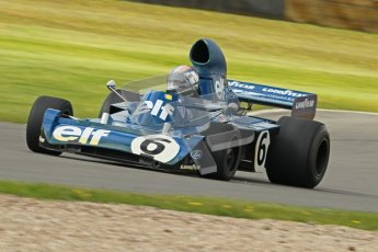 © Octane Photographic Ltd. Donington Park un-silenced general test day, 26th April 2012. Rob Hall, ex-Jackie Stewart Tyrrell006, Historic F1 Championship, Historic F1. Digital Ref : 0301cb1d3135