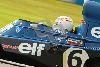 © Octane Photographic Ltd. Donington Park un-silenced general test day, 26th April 2012. John Delane, ex-Jackie Stewart Tyrrell006, Historic F1 Championship. Digital Ref : 0301cb1d3315