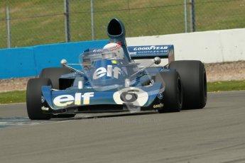 © Octane Photographic Ltd. Donington Park un-silenced general test day, 26th April 2012. John Delane, ex-Jackie Stewart Tyrrell006, Historic F1 Championship. Digital Ref : 0301cb1d3393