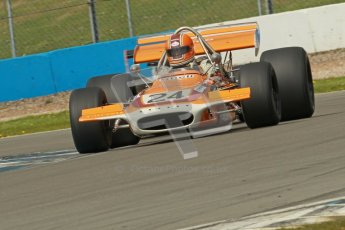 © Octane Photographic Ltd. Donington Park un-silenced general test day, 26th April 2012. Cengiz Artam, March 701, Historic F1. Digital Ref : 0301cb1d3408