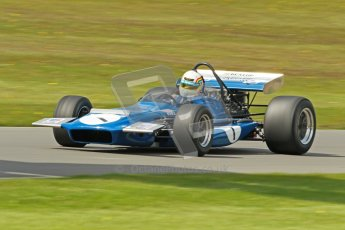 © Octane Photographic Ltd. Donington Park un-silenced general test day, 26th April 2012. Joe Twyman, March 701, Historic F1. Digital Ref : 0301cb1d3691