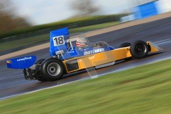 © Octane Photographic Ltd. Donington Park un-silenced general test day, 26th April 2012. Bob Berridge, Ex-John Watson, Surtees TS16, Master Grand Prix, Historic F1. Digital Ref : 0301cb7d7548