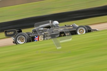 © Octane Photographic Ltd. Donington Park un-silenced general test day, 26th April 2012. Lotus 77 - Rob Hall, Historic F1. Digital Ref : 0301cb7d8064