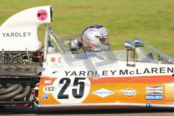 © Octane Photographic Ltd. Donington Park un-silenced general testing. Thursday 29th March 2012. McLaren M19, Historic F1. Digital Ref : 0261cb7d4909