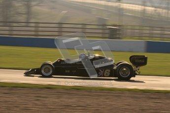 © Octane Photographic Ltd. Donington Park un-silenced general testing. Thursday 29th March 2012.  Lotus 77 - Rob Hall Lotus 77 - Rob Hall, Historic F1. Digital Ref : 0261lw7d3873