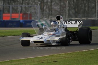 © Octane Photographic Ltd. Donington Park un-silenced general testing. Thursday 29th March 2012. McKaren M19, Historic F1. Digital Ref : 0261lw7d4385