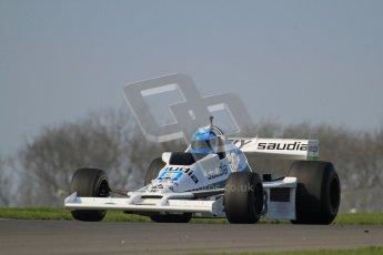 © Octane Photographic Ltd. Donington Park un-silenced general testing. Thursday 29th March 2012. Williams FW06, Historic F1. Digital Ref : 0261lw7d4742