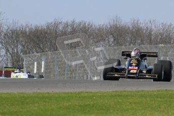 © Octane Photographic Ltd. Donington Park un-silenced general testing. Thursday 29th March 2012. Lotus 77 - Rob Hall, Historic F1. Digital Ref : 0261lw7d5564