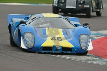 © Octane Photographic Ltd. Donington Park testing, May 3rd 2012. Lola T70. Digital Ref : 0313cb1d6770