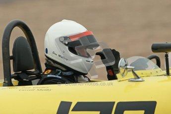 © Octane Photographic Ltd. Donington Park testing, May 3rd 2012. Ex-Carroll Shelby/Dan Gurney Old Yeller Mk.II, Sean McLung. . Digital Ref : 0313cb1d6893