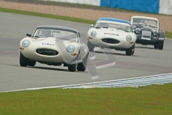 © Octane Photographic Ltd. Donington Park testing, May 3rd 2012. Jon Minshaw - Jaguar E-Type. Digital Ref : 0313cb1d7042
